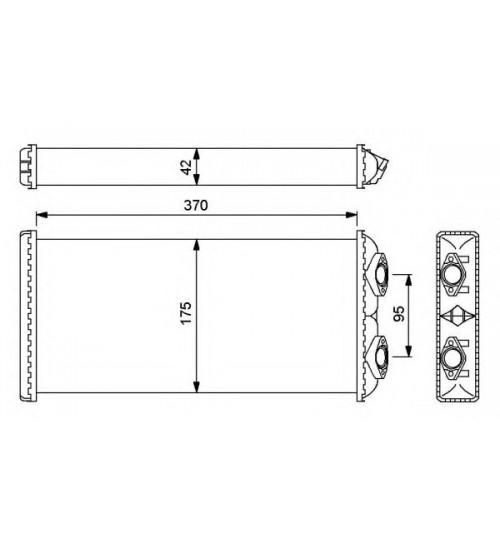 Радиатор печки 175x370x42mm MAN (пр-во NRF)