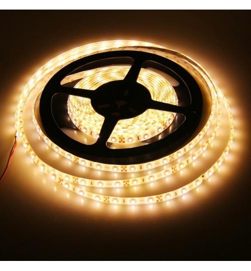 Гибкая светодиод. лента 24V (Цена за метр) 5м; 8мм*2,7мм, влагостойкая, желтая (пр-во Китай)
