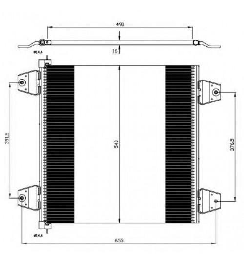 Радиатор кондиционера DAF XF 105, XF 95 (пр-во NRF)