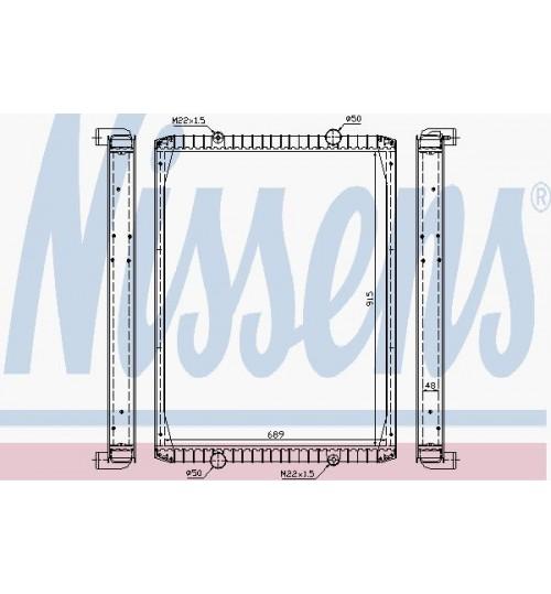 Радиатор охлаждения без рамы RVI PREMIUM  385/400 97-(DP-RE-454-1) (пр-во Daniparts)