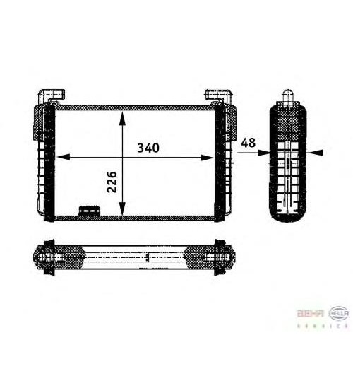 Радиатор печки RVI AE-MAGNUM 380-520 ( произв. Nissens )