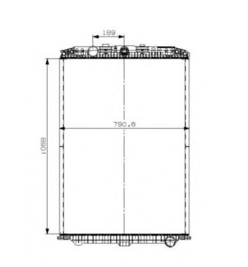 Радиатор (без рамы) DAF XF 105 MX300/MX340/MX375 (пр-во NRF)