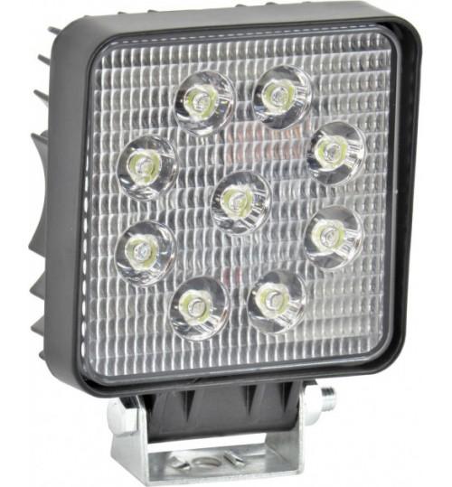 Фара LED дополнительная 12/24V 9х3W 106х106х47 (пр-во TEMPEST)