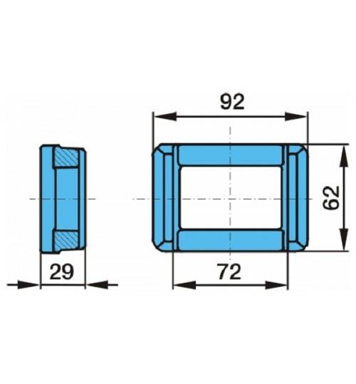 Пластина 24x90x72,3x5 рессоры (для 03.295.46.21.0) (пр-во BPW)