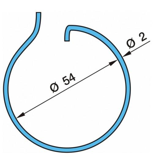Кольцо колодки торм. стопорное D=54х2 (пр-во BPW)