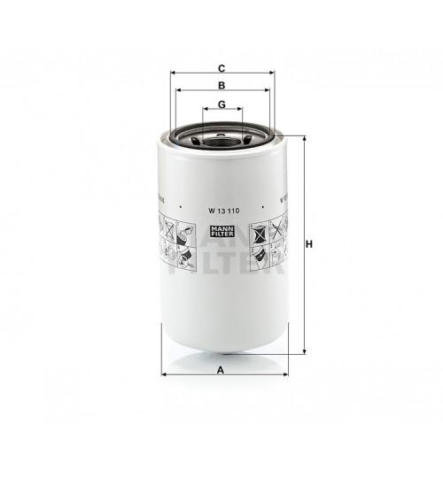 Маслянный фильтр DAF CF 75 (пр-во Mann Filter)