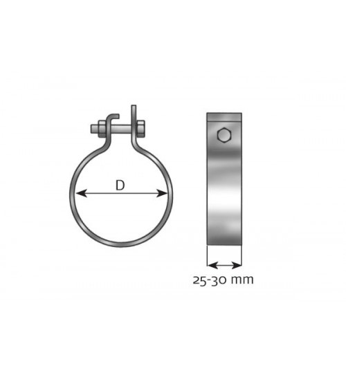 Хомут D 110,5 MM (пр-во Dinex)