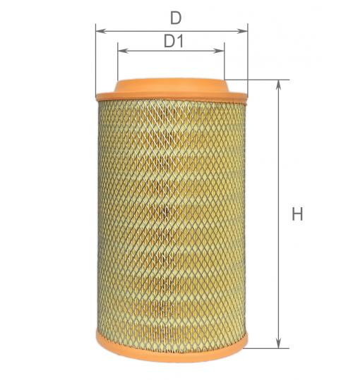 Воздушный фильтр MAN (пр-во ALPHA)