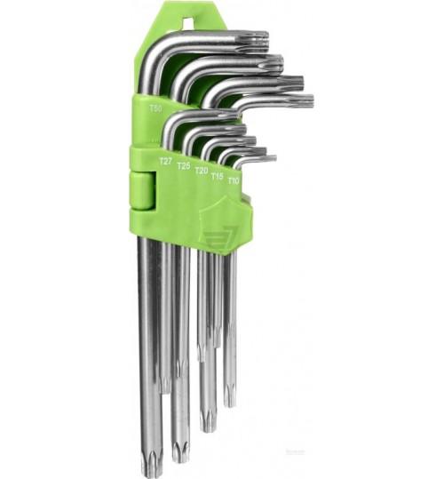 Набор изогнутых ключей TORX Alloid 9 пр. Т10-Т50